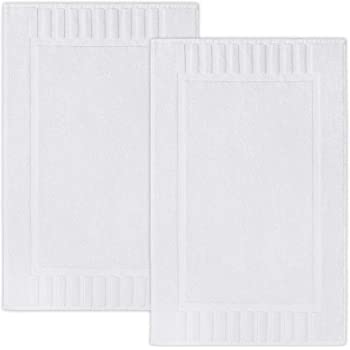 "Luxury Bath Mat Floor Towel Set - Absorbent Cotton Hotel Spa Shower/Bathtub Mats [Not a Bathroom Rug] 22""x34"" 