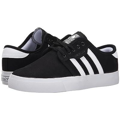 adidas Skateboarding Seeley J (Little Kid/Big Kid) (Black/White/Black) Skate Shoes