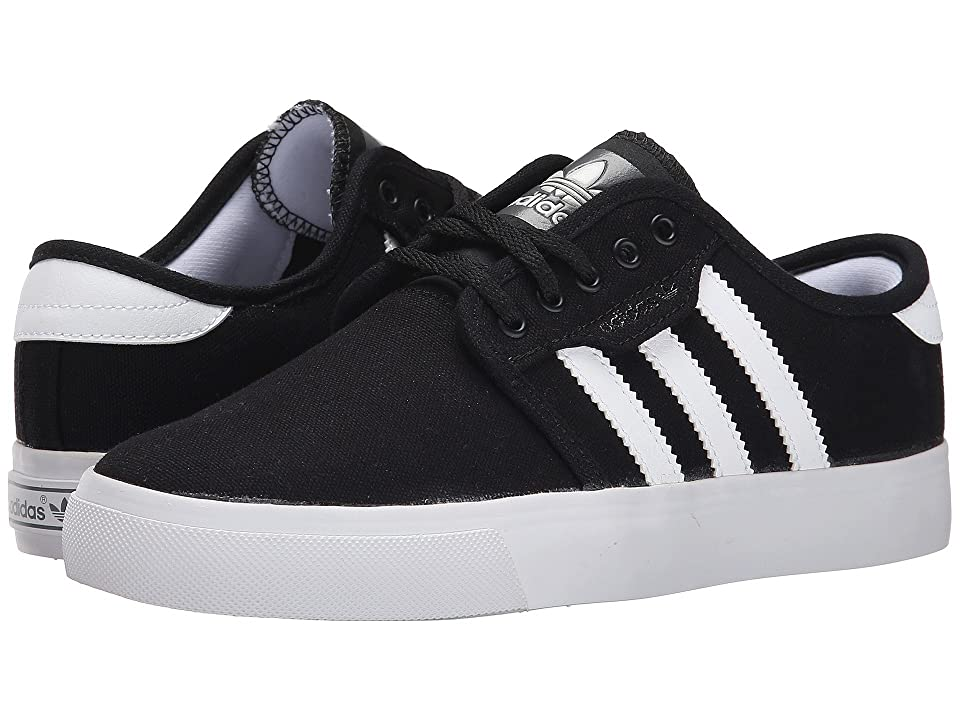 adidas Skateboarding Seeley J (Little Kid/Big Kid) (Black/White/Black) Skate Shoes