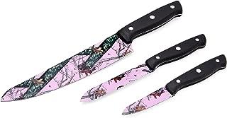 pink camo kitchen knives