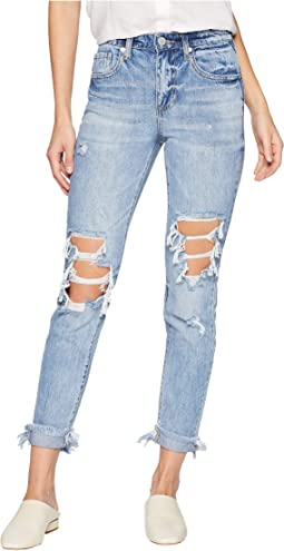 The Rivington Hi Rise Tapered Leg Denim Jeans in Jackpot