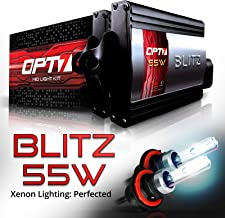 OPT7 BLTZ 55W 9007 Bi-Xenon HID Kit - 3X Brighter - 4X Longer Life - All Bulb Sizes and Colors - 2 Yr Warranty [5000K Bright White Light]