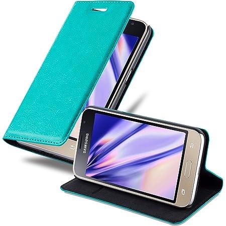 Cadorabo Hülle Für Samsung Galaxy J1 2015 In Petrol Elektronik