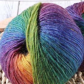 Dos hilados de lana,algodón arco iris,lana blanda en color,hilados de coser y punto: Amazon.es: Industria, empresas y ciencia