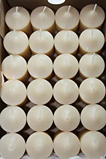 Enlightened Ambience Bergamot Tobacco Scented Votive Candles (24) Off-white 43213-33545