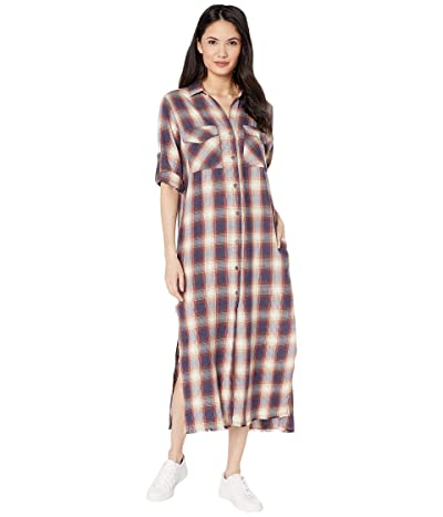 bella dahl Ombre Flannel Maxi Shirtdress Or Duster (Crushed Berry) Women