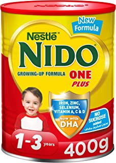 Nestle NIDO One Plus Growing Up Milk Powder Tin For Toddlers 1-3 Years, 400g, Pack of 1
