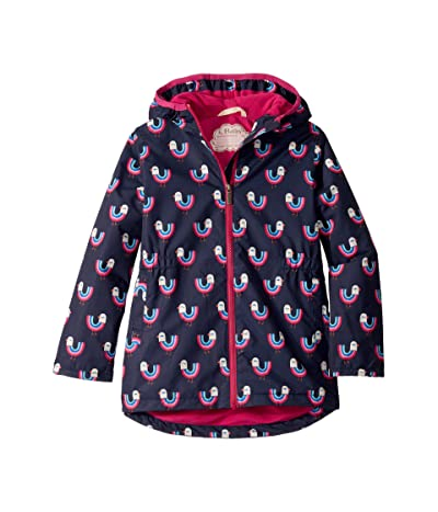 Hatley Kids Rainbow Birds Microfiber Rain Jacket (Toddler/Little Kids/Big Kids) (Blue) Girl