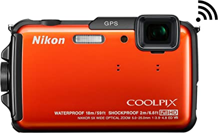Nikon COOLPIX AW110 Wi-Fi and Waterproof Digital Camera with GPS (Orange) (OLD MODEL)