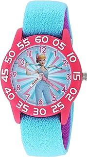 ساعة أنالوج للبنات من ديزني توي ستوري 4 - كوارتز مع حزام من النايلون، ازرق، 16 موديل WDS000700