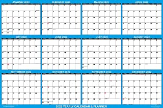 """2022 Erasable Calendar, Dry Erase Wall Planner by SwiftGlimpse, 32"""" x 48"""", X Large, Horizontal, Reversible for Large Plann..."""