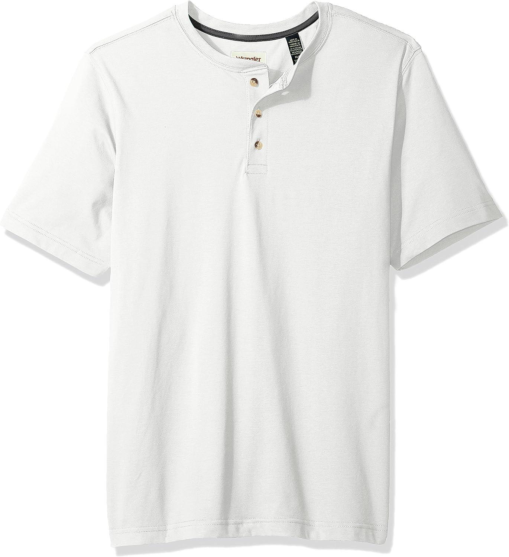 Wrangler Authentics Men's Short Sleeve Henley Tee