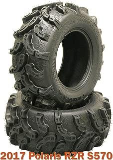 Super Lug Mud ATV Tire Set 27x9-12 fit for 2017 Polaris RZR S570 ATV Front