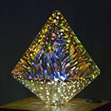 Aokairuisi Filament Fireworks Light Bulb 3D Colorful RGB Decoration LED Bulb 4W Edison Bulb Shape Like Sharp Diamond for Home Christmas Holiday Party (G125Z)