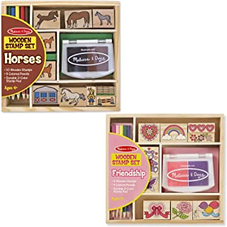 Melissa & Doug Wooden Stamp Sets - Friendship and Horses