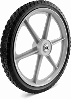 Martin Wheel PLSP16D175 16 by 1.75-Inch Plastic Spoke Semi-Pneumatic Wheel for Lawn Mower, 1/2-Inch Ball Bearing, 2-3/8-Inch Centered Hub, Diamond Tread