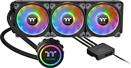 Thermaltake Floe DX 360 Triple Riing Duo 16.8 Million Colors RGB 54 LED LGA2066 AM4 Ready Intel/AMD Liquid Cooling All-in-One CPU Cooler CL-W256-PL12SW-B