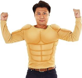 クリアストーン ムキムキマッチョ Tシャツ コスチューム メンズ 180cm