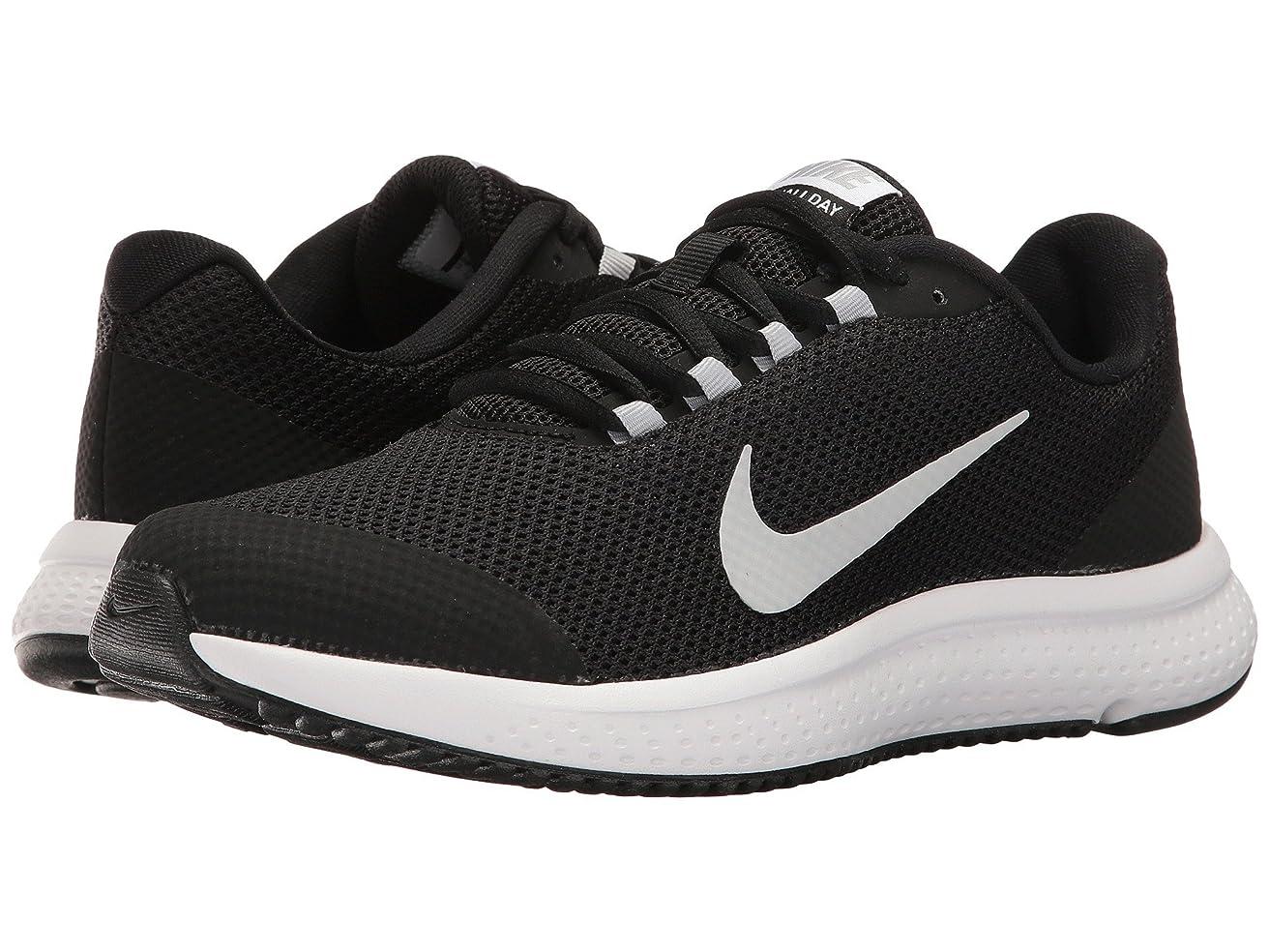 努力免除パズル(ナイキ) NIKE レディースランニングシューズ?スニーカー?靴 RunAllDay Black/White/Wolf Grey 8.5 (25.5cm) B - Medium