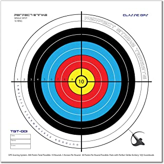 Perfect Strike ARCHERY System Targets. CLASSIC OPS No. 001. Heavy paper practice targets. Great for improving accuracy. Replacement faces to refresh portable targets. 12