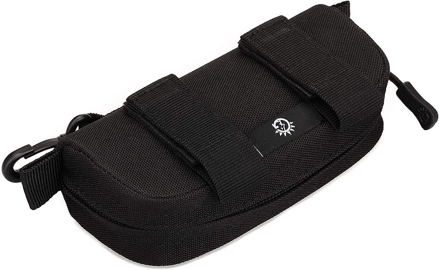Huntvp Tactical Eyeglasses Hard Case Molle Zipper Sunglasses Carrying Case Nylon with Clip