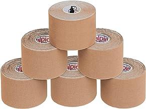 ALPIDEX Kinesiologie Tape 5 m x 5,0 cm Vele Kleuren, Kleur:Beige, Menge (Tape):6 Rollen