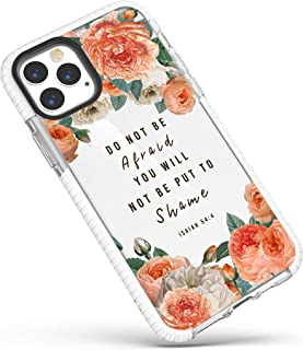 iPhone 12/iPhone 12 Pro Case,Pink Peony Floral Girls Women Inspirational Scripture Bible Verses Christian Quotes Isaiah 5...