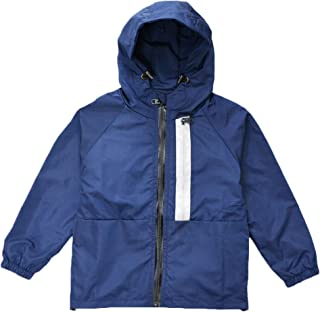 KISBINI Boy`s Kids Hooded Windproof Zipper Jackets Coats Windbreakers Raincoats