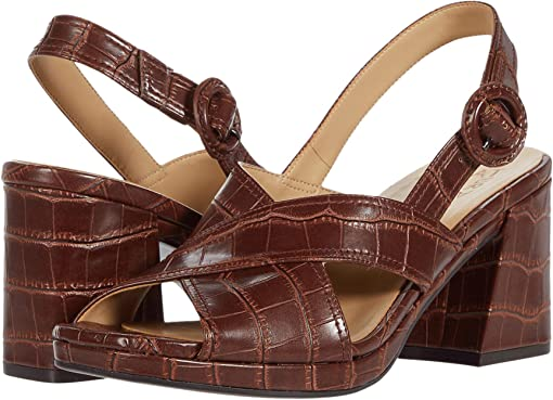 Lodge Brown Crocco Print Smooth
