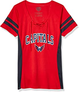 NHL Women's Poly Lace Up V-Neck Tee