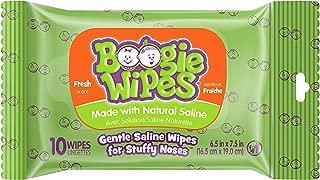 Boogie Wipes Gentle Saline Wipes, Allergy Relief - Fresh Scent - 10 ct
