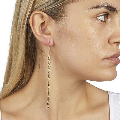 Rebecca Minkoff Star Shoulder Duster Hoop Earrings (Gold) Earring