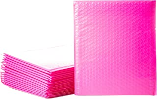 Empire Mailers #2 8.5 x 12-inch Hot Pink Padded Envelopes, Self Seal Mailers, Bubble-Lined Shipping Envelopes, Mail-Approved Poly Bubble Mailers, Self-Sealed Mailing Packages, Pack of 25