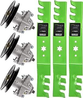 8TEN Spindle Toothed Blade Kit for MTD Cub Cadet Troy Bilt 50 Inch Deck RZT 50 L50 S50 ZT-50 ZTL7000 LT1050 LGT1050