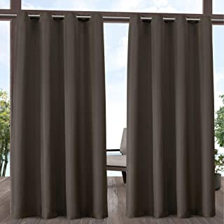 Exclusive Home Curtains Indoor/Outdoor Solid Panel Pair, 54x108, Chocolate