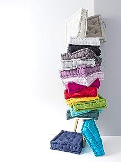Cojín de Suelo 40/40/12 100% algodón Tejido teñido Polvo de Lila