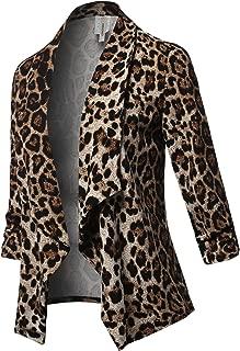 Best plus size leopard blazer Reviews
