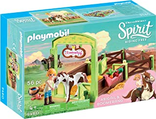 Playmobil 9480 Spirit Riding Free Abigail & Boomerang with Horse Stall