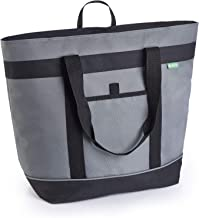 Jumbo Insulated Cooler Bag with HD Thermal Foam Insulation - Premium Quality Insulated Tote Bag. Perfect Insulated Grocery Shopping Bag, Food Delivery Bag, Travel Cooler or Picnic Cooler