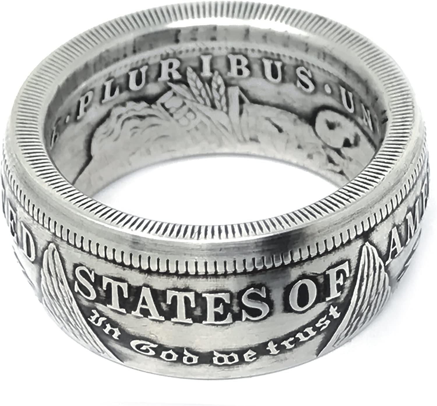 King of Coin Rings Handmade From 1921 a Morgan US Silver Free SEAL limited product shipping anywhere in the nation