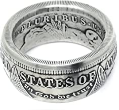 4Ink King of Coin Rings Handmade from a 1921 US Morgan Silver Coin