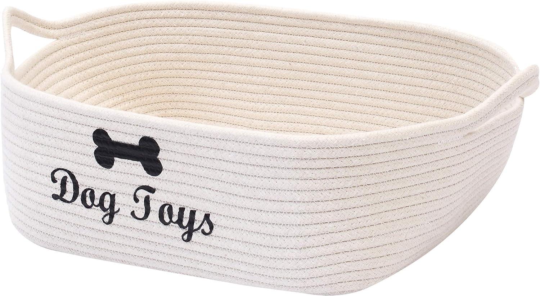 Geyecete Weave Rope Toy Storage Long-awaited Dog Basket Bin Baske Superlatite