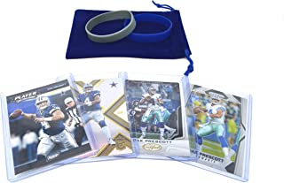 Dak Prescott Football Cards Gift Bundle - Dallas Cowboys (4) Assorted Trading Cards