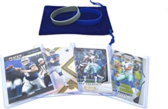 Dak Prescott Football Cards Gift Bundle - Dallas Cowboys (4) Assorted Trading Cards