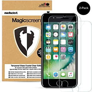 2-Pack Apple iPhone 8 Plus / 7 Plus Tempered Glass Screen Protector, MediaDevil Magicscreen Crystal Clear (Invisible)