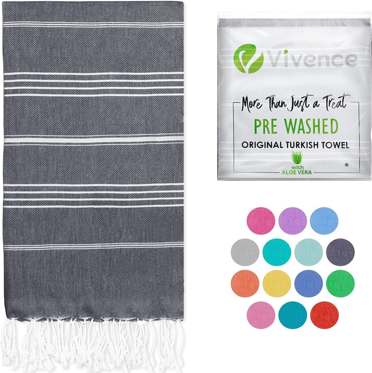 VIVENCE Turkish Beach Towels Infused with Sand Max 44% OFF Aloe Vera Free - Max 44% OFF