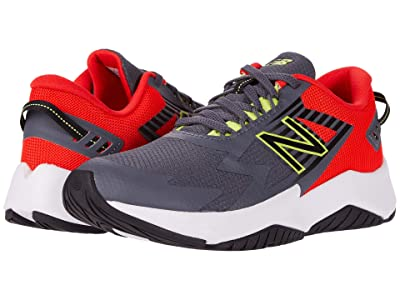 New Balance Kids Rave Run v1 (Little Kid/Big Kid) (Lead/Neo Flame) Boys Shoes