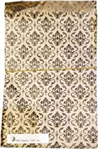 200 pcs Damask Paper Gift Bags Shopping Sales Tote Bags Brown with Black Damask Design (5