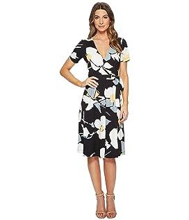 Taral Short Sleeve V-Neck Wrap Dress
