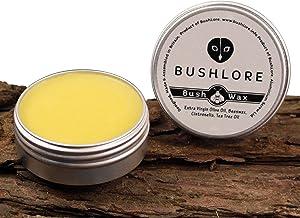 Bushcraft Balm wasserdichte Outdoor-Creme – Leder Leinenpflege & Politur – Feuchtigkeitspflege Hände, Lippen, Füße mit Bienenenwachs und Ölen